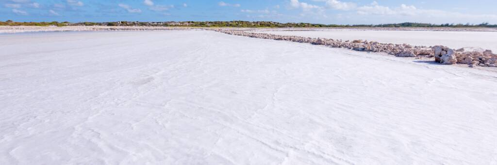 salt crystals at Hawkes Nest Salina on Grand Turk