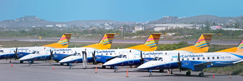 Embraer Brasilia planes in the Turks and Caicos
