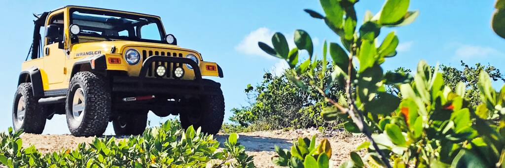 rental Jeep Wrangler in Turks and Caicos.