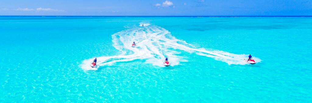 jet skiing in the Turks and Caicos