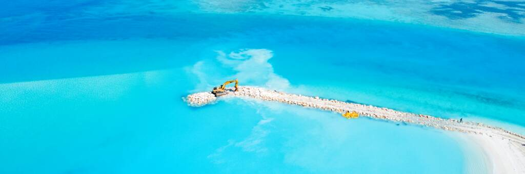 jetty construction and turbidity in the Turks and Caicos