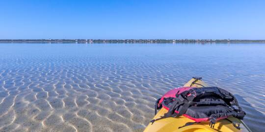 Kayak at Bottle Creek in the Turks and Caicos