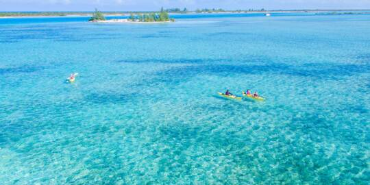 kayaking in the Turks and Caicos