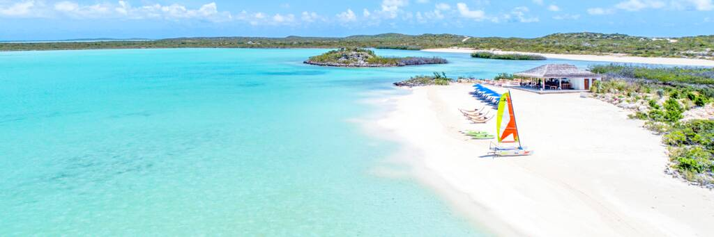 the Lagoon Beach at Sailrock Resort on South Caicos