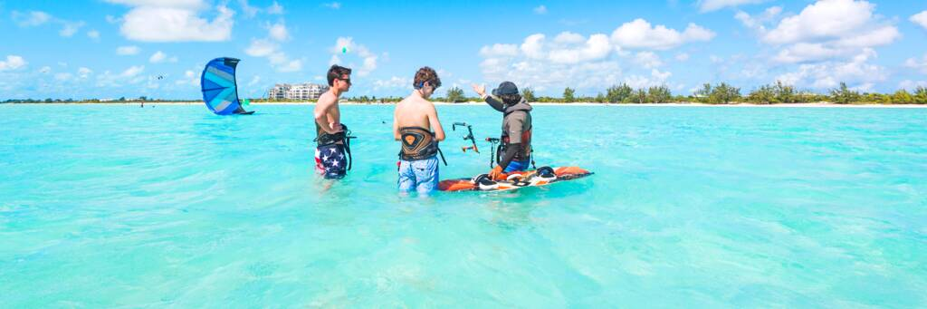 kiteboarding lessons at Long Bay Beach