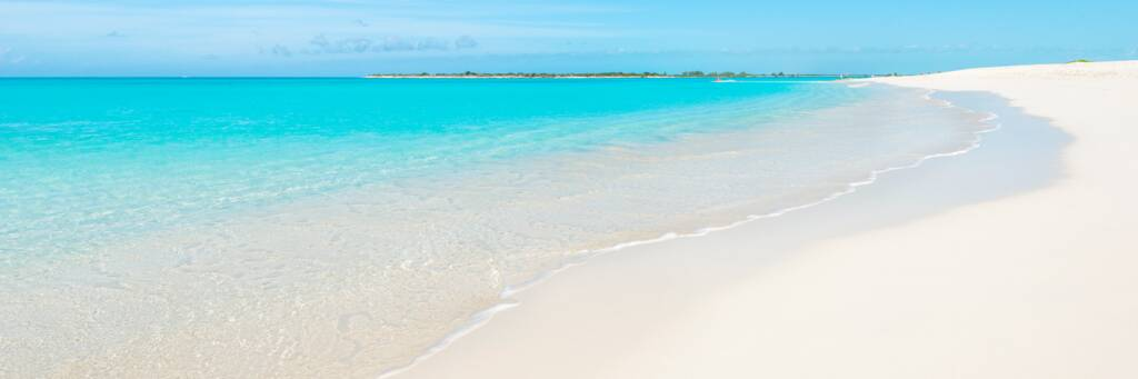 calm weather at the beautiful Leeward Beach in the Turks and Caicos