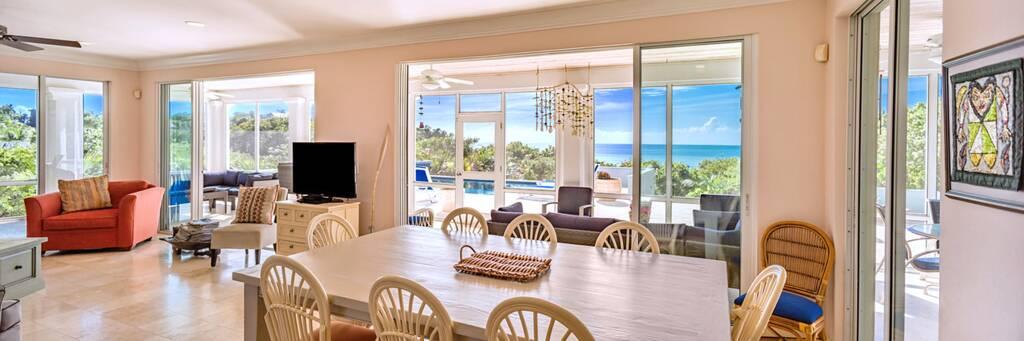 living room at Bahia Mar Villa near Taylor Bay Beach