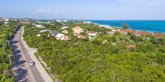 Lower Bight Road and the residential region of Turtle Cove on Providenciales