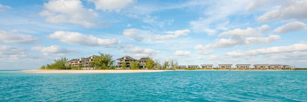 the unfinished resort buildings on Dellis Cay