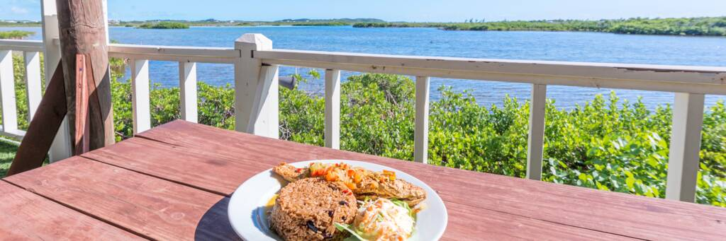 fish dinner at Mangrove Bay Restaurant