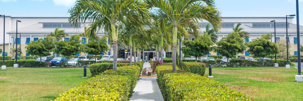 the grounds of the National Hospital on Providenciales