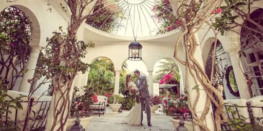 wedding photo shoot at the Regent Palms resort on Grace Bay
