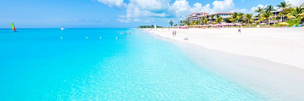 Grace Bay Beach at Ocean Club hotel in the Turks and Caicos