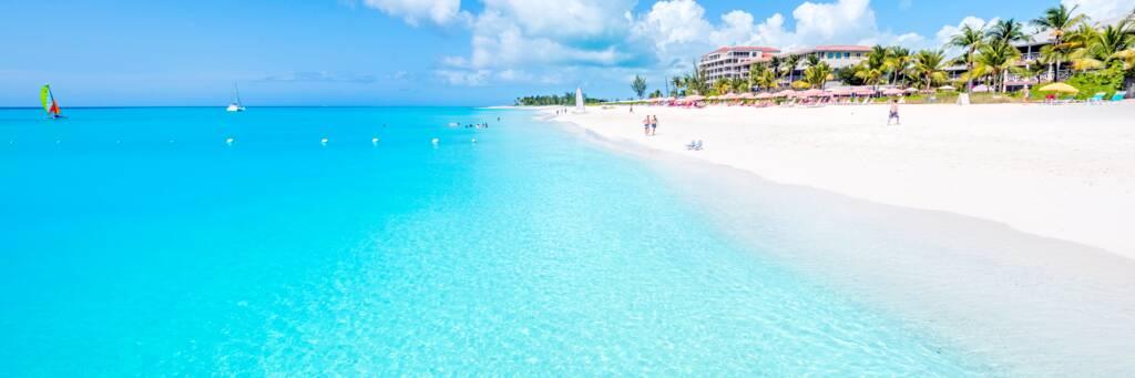 beach at Ocean Club hotel in Turks and Caicos