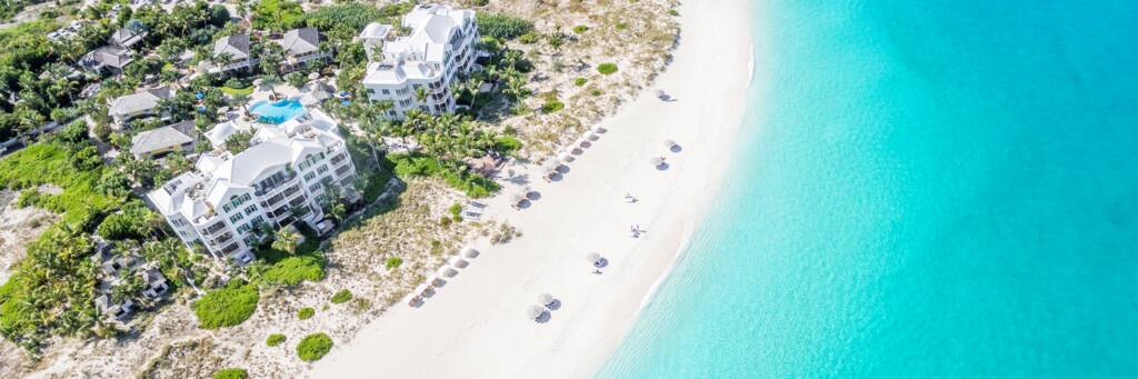aerial view of Point Grace Resort in the Turks and Caicos
