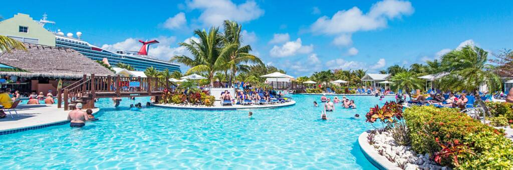 the massive swimming pool at the Grand Turk Cruise Center
