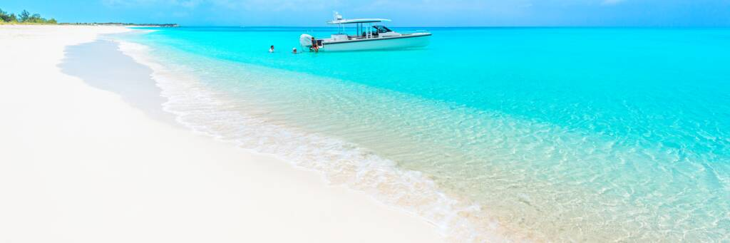 private yacht charter at Half Moon Bay Beach in Turks and Caicos