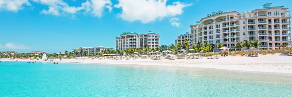 the luxury Seven Stars Resort on Grace Bay Beach