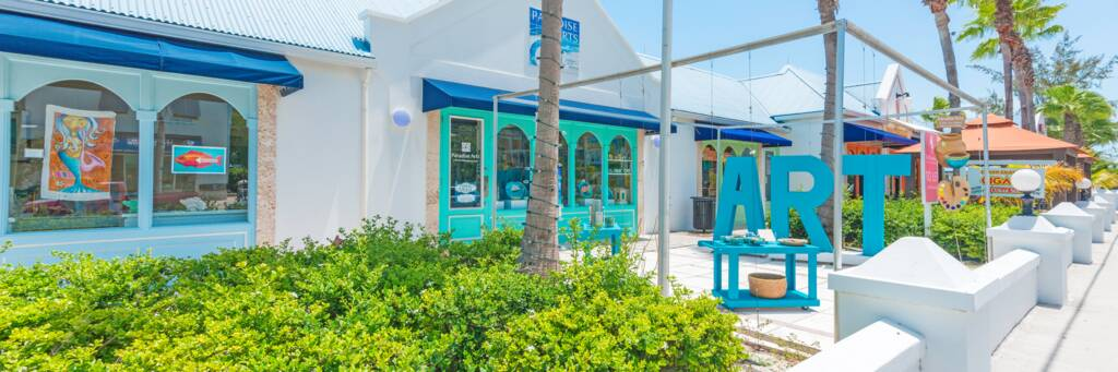 The Saltmills shopping plaza in Grace Bay, Turks and Caicos