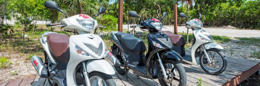 scooters for rent in Grace Bay in the Turks and Caicos