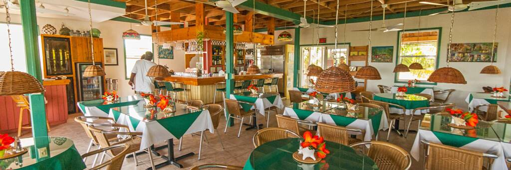 the interior of the Silver Palm Restaurant at Whitby on North Caicos