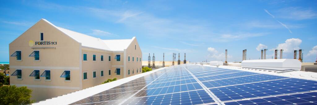 solar installation on Providenciales in the Turks and Caicos