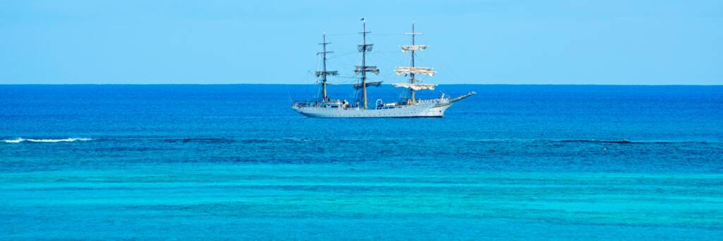 the Sørlandet sailing ship in the Turks and Caicos