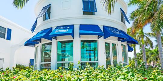 the Sotheby' real estate office in Grace Bay