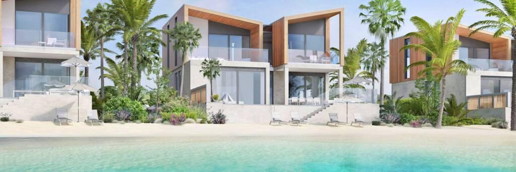 rendering of villas at the South Bank project at Long Bay
