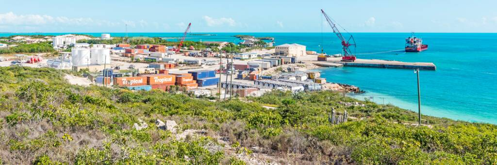 South Dock port on Providenciales