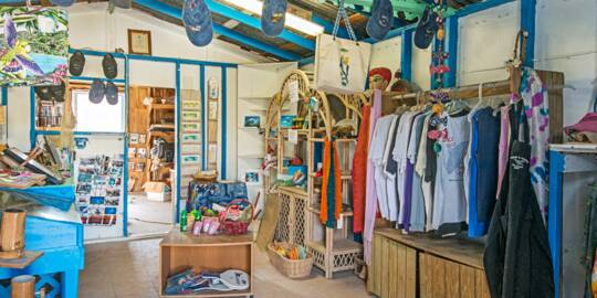 the small Splash Boutique shop in Balfour Town on Salt Cay