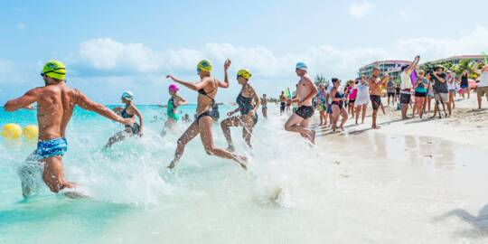 start of the Race for the Conch swim race
