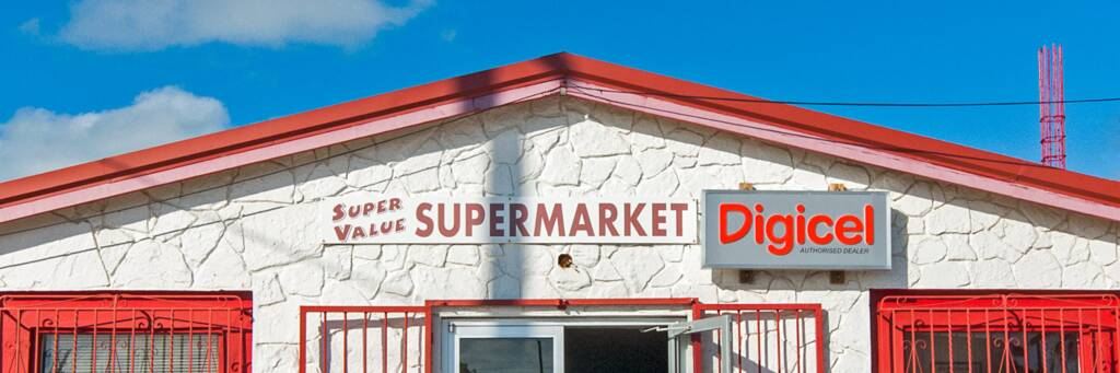 the small Super Value grocery store in central Cockburn Harbour on South Caicos