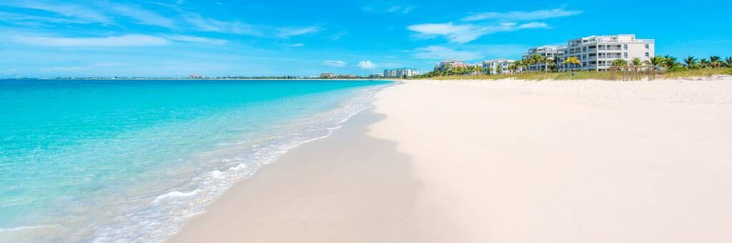 the beautiful and uncrowded Grace Bay Beach and luxury resorts