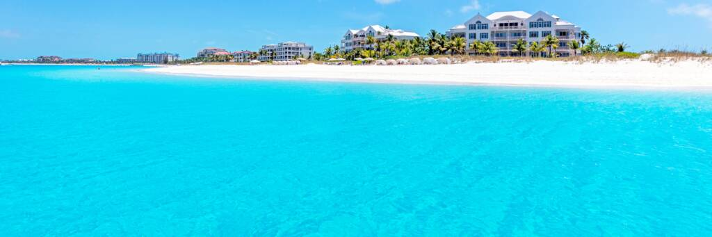 resorts on Grace Bay Beach in the Turks and Caicos