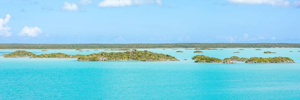 the amazing turquoise water and small limestone islands of Chalk Sound National Park