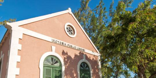 the colonial Victoria Public Library in old Cockburn Town on Grand Turk
