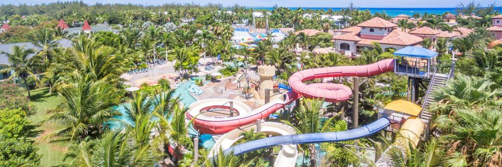 water slides, lazy river, and pirate ships at Beaches Turks and Caicos