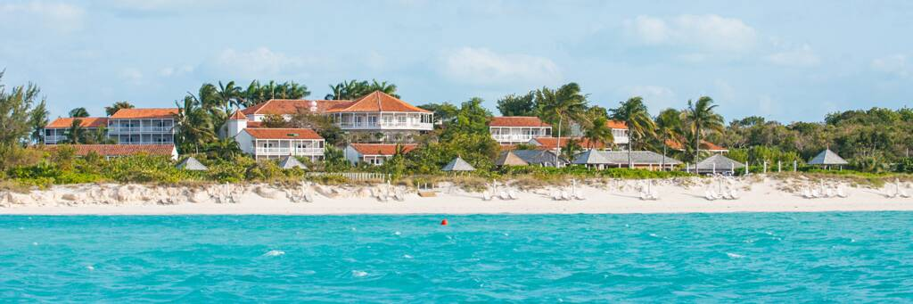 the secluded Parrot Cay Resort in the Turks and Caicos