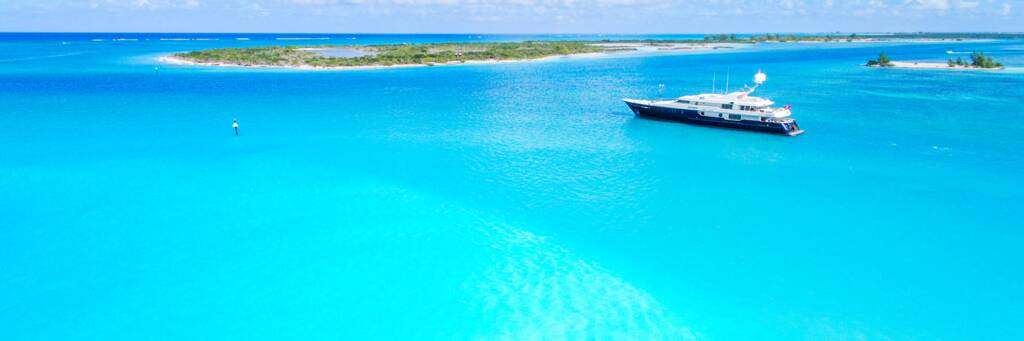 Yacht in the Turks and Caicos