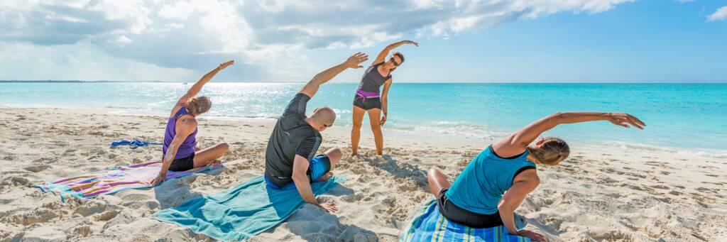 yoga lessons on Leeward Beach