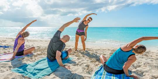 yoga lessons on Leeward Beach