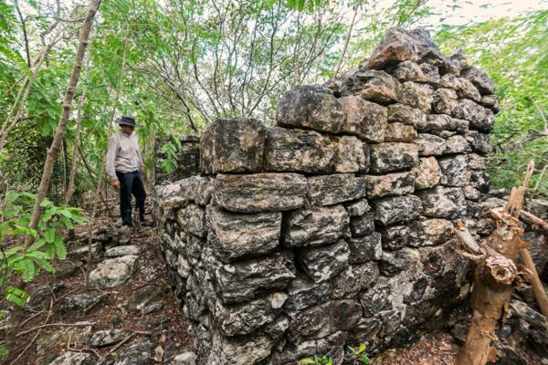 1700s Loyalist ruins in the tropical dry forests of Middle Caicos