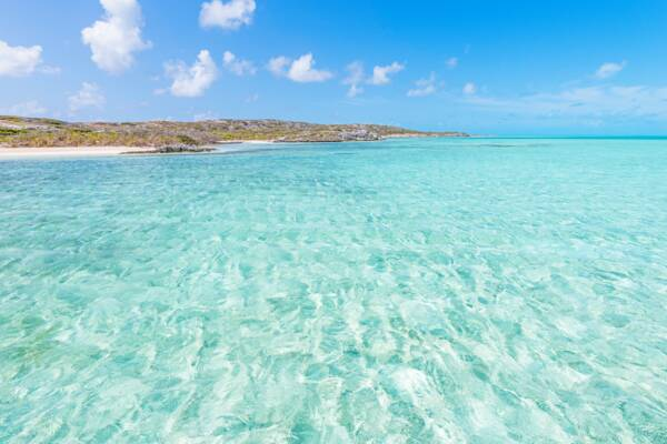 beautiful ocean water at Long Cay in the Turks and Caicos