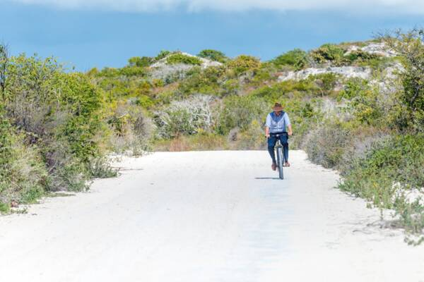 cycling near Bell Sound on South Caicos