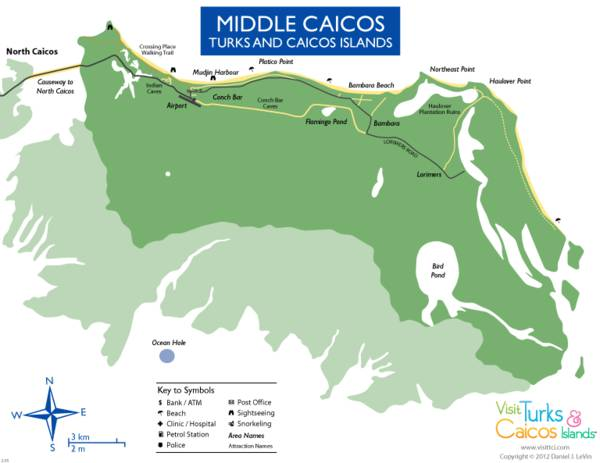 map of Middle Caicos