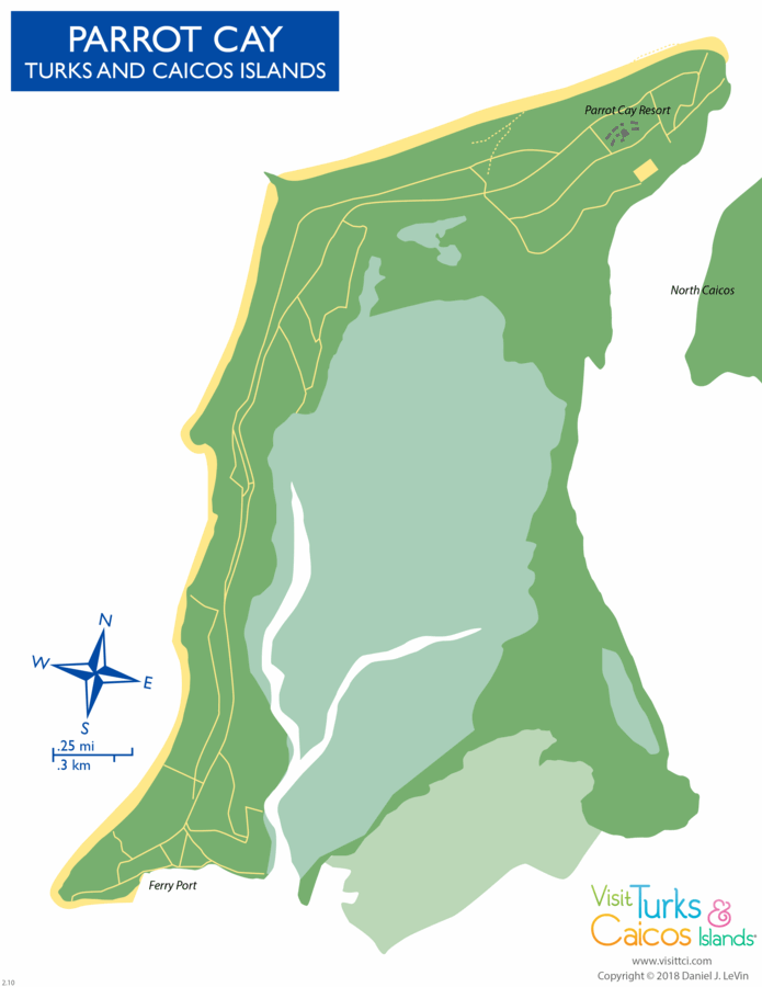 map of Parrot Cay