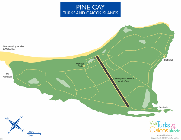 map of Pine Cay