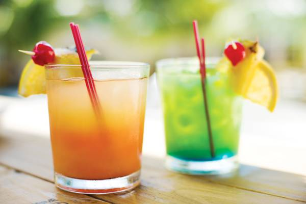 fruit flavored cocktails at Coconut Grove Restaurant in Downtown Providenciales