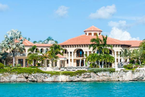 the main house at the luxury Emerald Cay Villa in the Turks and Caicos